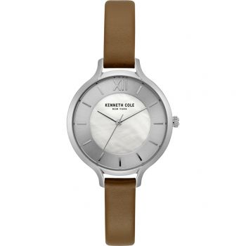 Kenneth Cole Ladies Leather Strap Watch -   KC15187005-KCNP