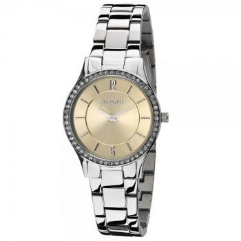 Accurist Ladies Crystal Set Watch, - LB6491-X-ANP