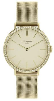 LK Bennett Ladies Gold Plated Bracelet Bracelet Watch LK4000 LKNP