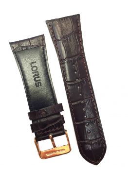 Lorus Genuine Replacement Leather Strap - 28mm, NEW