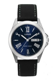 NB Lorus Gents Stainless Steel Leather Strap Watch - RJ637AX9 OS LNP