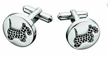 Moschino Stainless Steel 'Scotty' Cufflinks MJ0024-MJNP