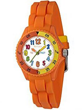 TNP   NTK0008  Tikkers Childrens Multi-Colour Index Orange Resin Strap Watch