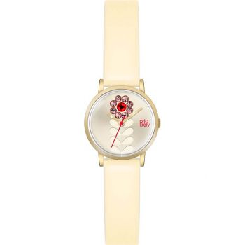 OKNP OK2076 Orla Kiely  Valentina Ladies Leather Strap Watch
