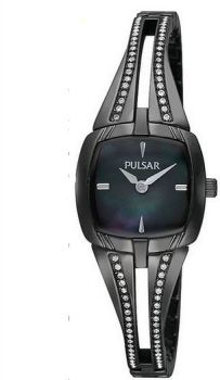 Pulsar Ladies Swarovski Black Ion Bracelet Watch  PEGE09X1-PNP