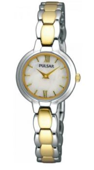 Pulsar Ladies Two Tone Bracelet Watch   PEGF95X1 NEW