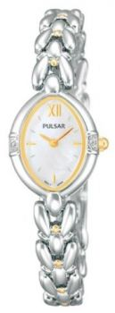 Pulsar Ladies Swarovski Two Tone Bracelet Watch  PEGG23X1 PNP