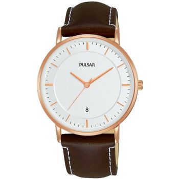 Pulsar Gents Leather Strap Watch - PG8258X1-NEW