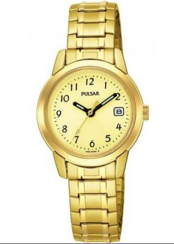 Pulsar Ladies Gold Plated Expanding Bracelet Watch - PH7052X1 x PNP