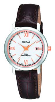 PNP PH7209X1 Pulsar Ladies Stainless Steel Leather Strap Watch