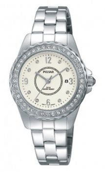 PNP  PH7405X1 Pulsar Ladies Swarovski Stainless Steel Bracelet Watch