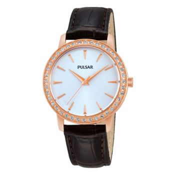 Pulsar Ladies Swarovski Rose Gold Plated Watch   PH8114X1-PNP
