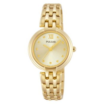 PH8118X1 NEW Pulsar Ladies Gold Plated Bracelet Watch