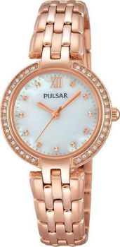 PH8168X1 NEW Pulsar Ladies Swaropvski  Rose Gold Plated Bracelet Watch