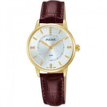 Pulsar Ladies Leather Strap Watch    PH8182X1-PNP