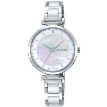Pulsar Ladies Stainless Steel/Ceramic Watch - PH8269X1-PNP