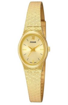 Pulsar Gold Plated Bracelet Watch   PK3032X1 NEW