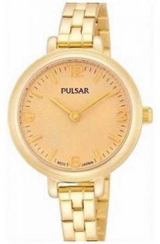 PM2058X1 NEW Pulsar Ladies Gold Plated Bracelet Watch