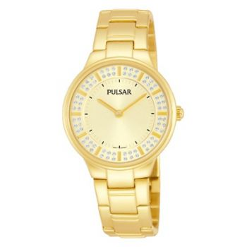 Pulsar Ladies Gold Plated Bracelet Watch   PM2090X1-X-PNP