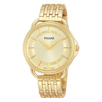 PNP PM2100X1 Pulsar Ladies Gold Plated Bracelet Watch
