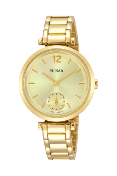 Pulsar Ladies Gold Plated Bracelet Watch    PN4068X1-PNP