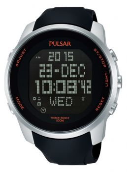 Pulsar Gents Digital Chronograph Rubber Strap Watch PQ2049X1 NEW