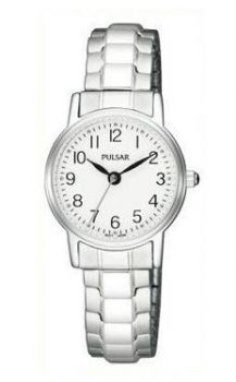 Pulsar Ladies Stainless Steel Expanding Bracelet Watch - PRS645X1-PNP