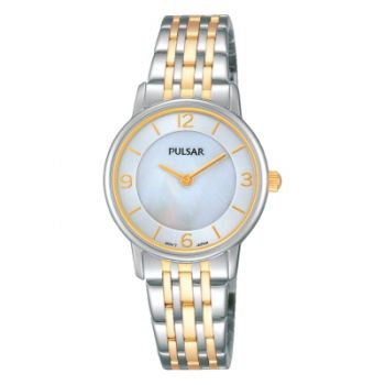 Pulsar Ladies Two Tone Bracelet Watch   PRW027X1-PNP