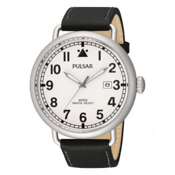 Pulsar Gents Leather Strap Watch - PS9249X1 PNP