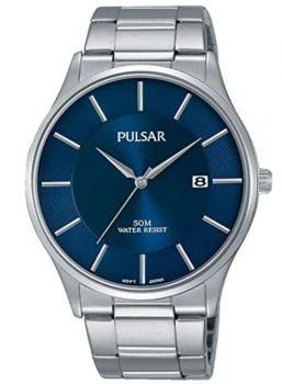Pulsar Gents Stainless Steel Date Bracelet Watch  PS9541X1 NEW