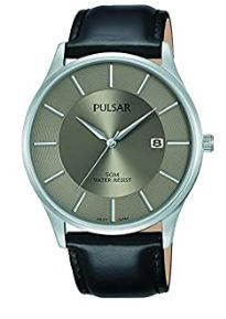 Pulsar Gents Date Display Leather Strap Watch  PS9545X1 PNP