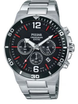 PT3797X1 NEW Pulsar Gents Stainless Steel Chronograph Bracelet Watch