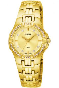 PNP PTC390X1 Pulsar Ladies Swarovski Gold Plated Bracelet Watch