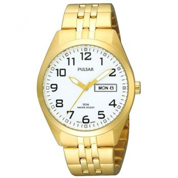 Pulsar Gents Gold Plated Watch - PV3006X1 PNP