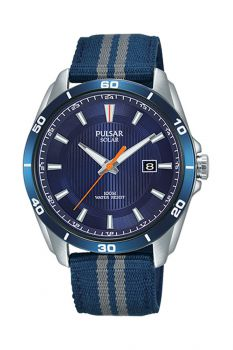 Pulsar Gents Solar Stainless Steel Watch - PX3177X1-NEW
