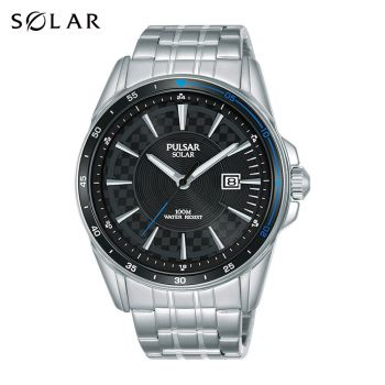 Pulsar Gents Solar Stainless Steel Watch - PX3203X1-NEW