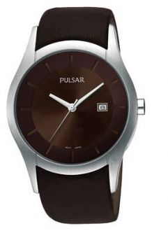Pulsar Gents Leather Strap Watch - PXDB15X1-PNP