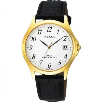 Pulsar Gents Leather Strap Watch - PXH566X1 PNP