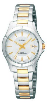 Pulsar Ladies Two Tone Bracelet Date Watch PXT931X1 PNP