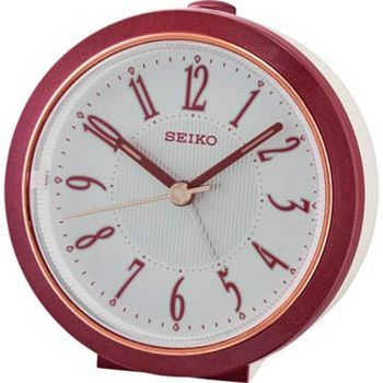 Seiko Bedside Alarm Clock with Quiet Sweep Second Hand - QHE180R NEW