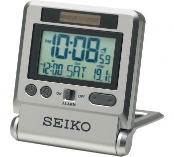Seiko Digital Travel Alarm Clock - QHL066S-NEW