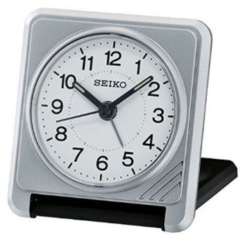 Seiko Travel Alarm Clock - QHT015S NEW