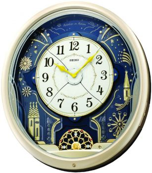 Seiko Melody in Motion Wall Clock QXM239S NEW