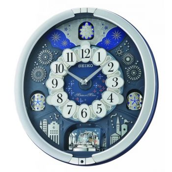 Seiko Melody in Motion Wall Clock QXM379S NEW