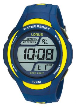 Lorus Gents Digital Alarm Chronograph Resin Strap Watch  R2339EX9-NEW