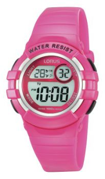 Lorus Childrens Alarm Chronograph Resin Strap Watch  R2387HX9-LNP-NB