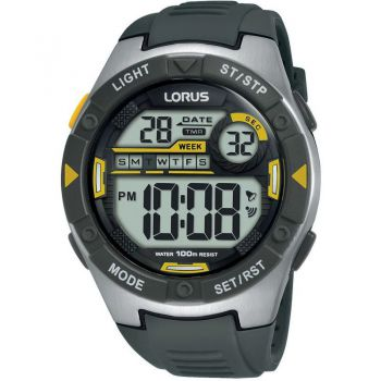 Lorus Unisex Alarm Chronograph Resin Strap Watch      R2397MX9-LNP