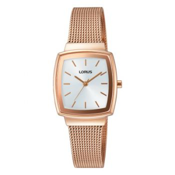 Lorus Ladies Rose Gold Plated Mesh Bracelet Watch - RG252LX9 LNP