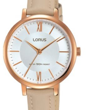Lorus Ladies Leather Strap Watch    RG264LX8-X-LNP