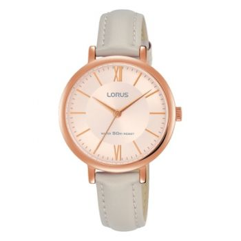 Lorus Ladies Leather Strap Watch - RG264MX9-LNP